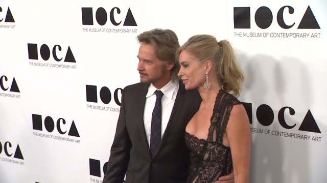 stephen nichols eileen davidson at the the museum of contemporary art los angeles presents the annual moca gala at los angeles ca - los angeles museum of contemporary art stock videos and b-roll footage