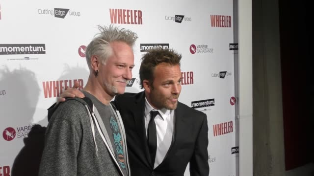 stockvideo's en b-roll-footage met stephen norrington stephen dorff at the premiere of momentum pictures' wheeler on january 30 2017 in hollywood california - stephen dorff