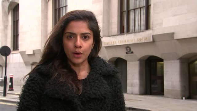 call played to jury; london: old bailey: reporter to camera - juror law stock videos & royalty-free footage