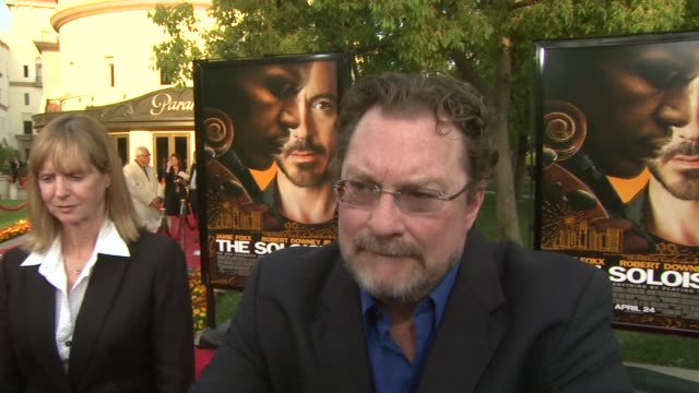 stephen root on his character, the film's appeal at the 'the soloist' premiere at los angeles ca. - soloist stock videos & royalty-free footage