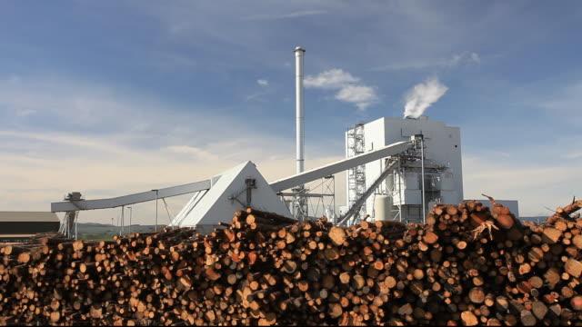 stephens croft biofuel power station in lockerbie, scotland, uk. - dumfries and galloway stock videos & royalty-free footage