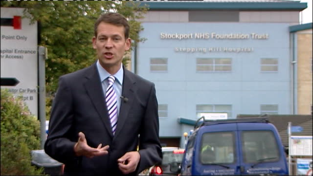 stepping hill hospital deaths nurse blames media for public villfication stockport stepping hill hospital reporter to camera - stockport bildbanksvideor och videomaterial från bakom kulisserna