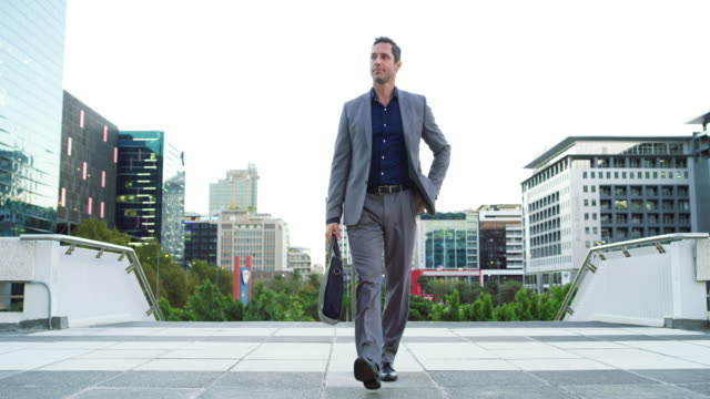 スタイルでビジネスの世界に足を踏み入れる - full length点の映像素材/bロール