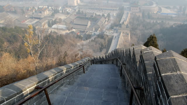 Steps and staircase to next fort , Great wall of China Beijing , China