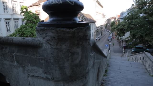 steps in the castle district, budapest, hungary, europe - eastern european culture stock videos and b-roll footage
