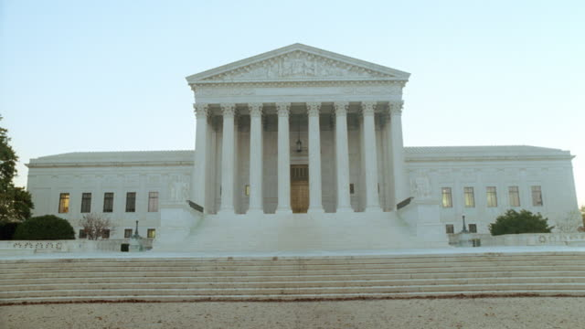steps lead up to the united states supreme court building. - us supreme court building stock videos & royalty-free footage