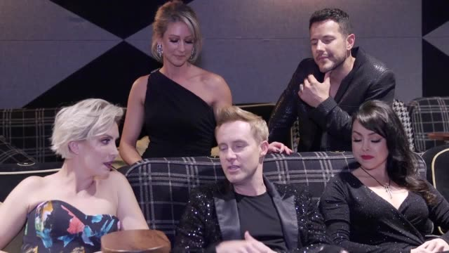 steps talk about the release of their new dvd, party on the dancefloor, at a special screening in the everyman cinema, kings cross. - steps stock videos & royalty-free footage