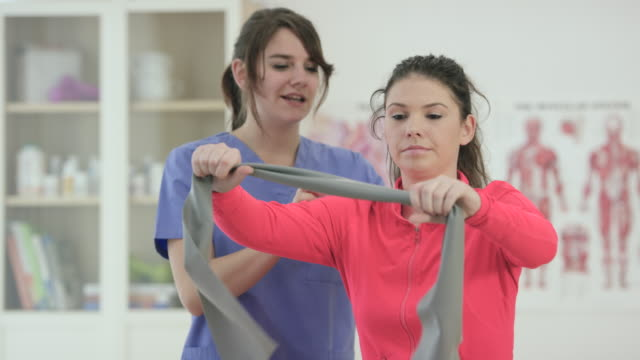 steps to recovery - physical therapy stock videos and b-roll footage