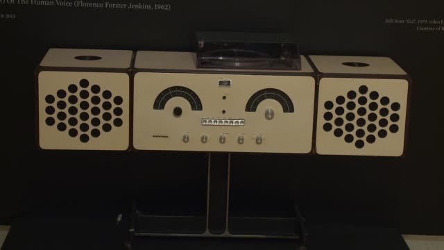 atmosphere stereo cabinet created by brothers achille and pier giacomo castiglioni for brionvega from david bowie's private collection at... - サザビーズ点の映像素材/bロール