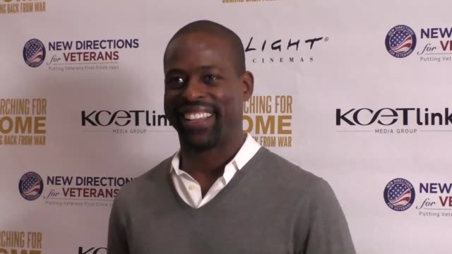 Sterling Brown at The Cast Of Lifetime Television's Army Wives Reunites For Searching For Home Coming Back From War at Arclight Theatre in Sherman...