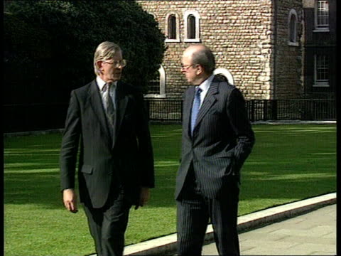 political reaction england london westminster lbv kenneth clarke mp arriving at admiralty house for emergency cabinet meeting lbv michael heseltine... - michael heseltine stock videos and b-roll footage