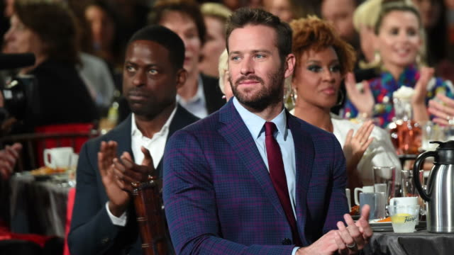 sterling k brown and armie hammer during the 2019 film independent spirit awards on february 23 2019 in santa monica california - film independent spirit awards stock videos & royalty-free footage