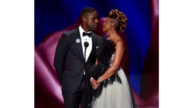 sterling k. brown and ryan michelle bathé speak onstage during the 51st naacp image awards, presented by bet, at pasadena civic auditorium on... - pasadena civic auditorium stock videos & royalty-free footage