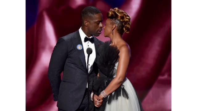 sterling k brown and ryan michelle bathé speak onstage during the 51st naacp image awards presented by bet at pasadena civic auditorium on february... - naacp stock videos & royalty-free footage