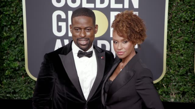 Sterling K Brown and Ryan Michelle Bathe at the 75th Annual Golden Globe Awards at The Beverly Hilton Hotel on January 07 2018 in Beverly Hills...