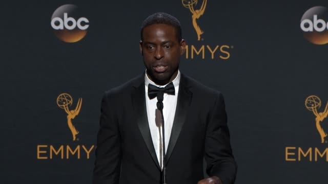 INTERVIEW Sterling K Brown at 68th Annual Primetime Emmy Awards Press Room in Los Angeles CA
