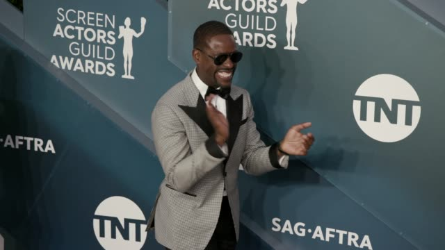 sterling k. brown at the 26th annual screen actors guild awards at the shrine auditorium on january 19, 2020 in los angeles, california. - screen actors guild awards stock videos & royalty-free footage