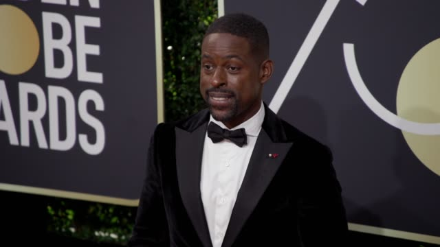 sterling k. brown at the 75th annual golden globe awards at the beverly hilton hotel on january 07, 2018 in beverly hills, california. - the beverly hilton hotel stock videos & royalty-free footage
