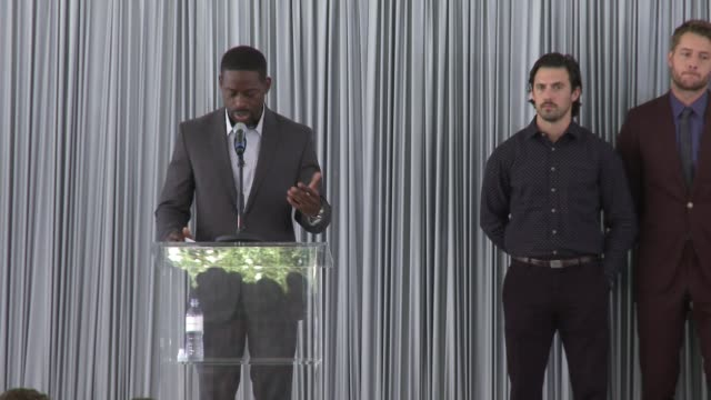 SPEECH Sterling K Brown at The Rape Foundation's Annual Brunch on October 08 2017 in Beverly Hills California