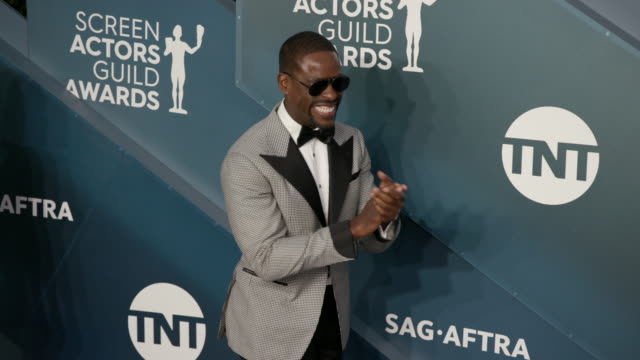 sterling k. brown at the shrine auditorium on january 19, 2020 in los angeles, california. - screen actors guild stock videos & royalty-free footage