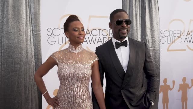 sterling k. brown, ryan michelle bathe at the 25th annual screen actors guild awards - social ready content at the shrine auditorium on january 27,... - content stock videos & royalty-free footage