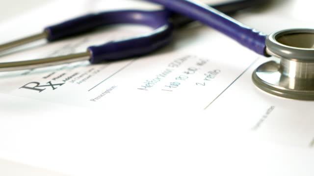 Stethoscope and drug prescription