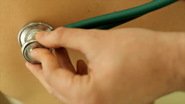 stethoscope,close up - bronchi stock videos & royalty-free footage