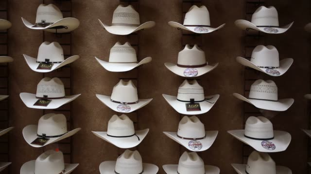 Stetson and Resistol brand cowboy hats are manufactured from animal felt at the Hatco Inc factory in Garland Texas US on Friday August 28 2015 Shots...