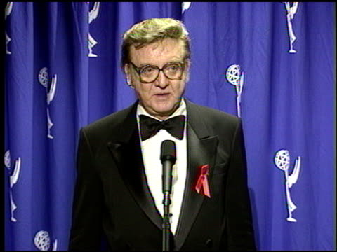 steve allen at the 1996 emmy awards press room at the pasadena civic auditorium in pasadena, california on september 8, 1996. - pasadena civic auditorium stock videos & royalty-free footage