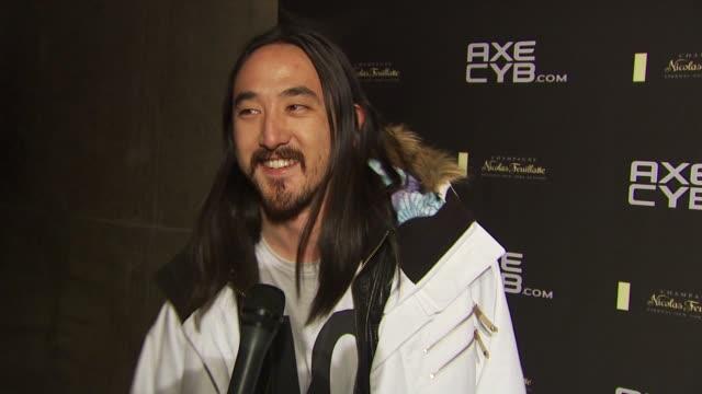 Steve Aoki on wearing AXE at the Axe CYB Party Sundance Film Festival 2010 at Park City UT