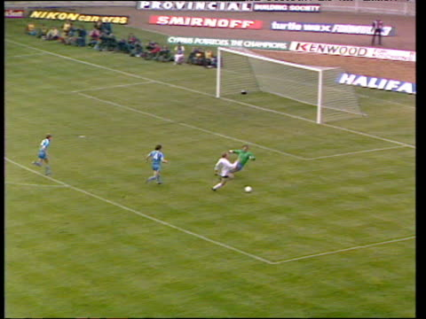stockvideo's en b-roll-footage met steve archibald gets behind defence rounds joe corrigan crosses to garry brooke who has two attempts blocked joe corrigan makes fine save from second... - fa cup