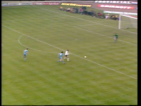 steve archibald gets behind defence rounds joe corrigan crosses to garry brooke who has two attempts blocked joe corrigan makes fine save from second... - final round stock videos & royalty-free footage