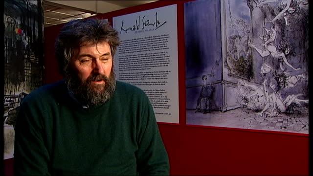 stockvideo's en b-roll-footage met steve bell interview sot he [searle] is our greatest living cartoonist - cartoonist