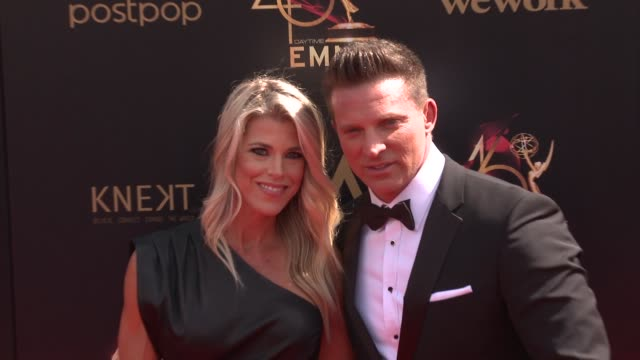 steve burton and sheree gustin at the 2019 daytime emmy awards at pasadena civic center on may 05 2019 in pasadena california - annual daytime emmy awards stock videos & royalty-free footage