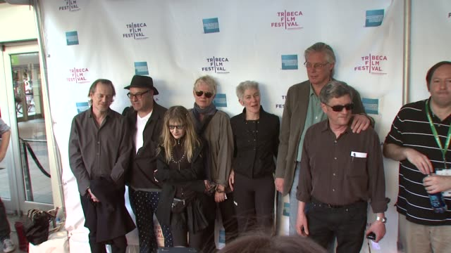 steve buscemi amos poe marcia resnick pat place beth b james nares and michael mcclard at the 8th annual tribeca film festival 'blank city' premiere... - steve buscemi stock videos & royalty-free footage