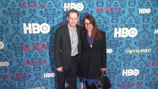 steve buscemi and jo andres at new york premiere of hbo's 'girls' at school of visual arts theater on april 04 2012 in new york new york - steve buscemi stock videos and b-roll footage