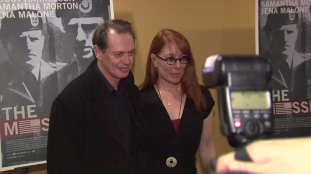 steve buscemi and jo andres at the 'the messenger' new york premiere at new york ny - steve buscemi stock videos and b-roll footage