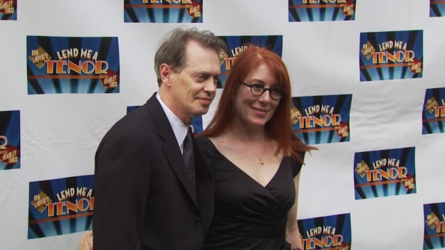 steve buscemi and wife at the opening of 'lend me a tenor' arrivals at new york ny - lend me a tenor stock-videos und b-roll-filmmaterial