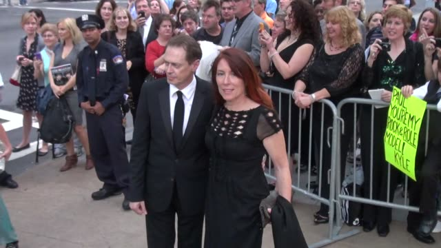 steve buscemi and wife jo andres at the 2011 new york city ballet fall gala 9/22/11 - steve buscemi stock videos & royalty-free footage