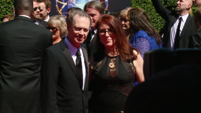 steve buscemi at 2014 creative arts emmy awards in los angeles ca - steve buscemi stock videos & royalty-free footage