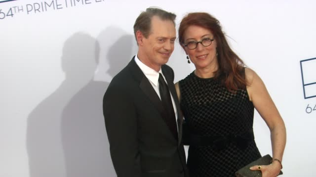 steve buscemi at 64th primetime emmy awards arrivals on 9/23/12 in los angeles ca - steve buscemi stock videos & royalty-free footage