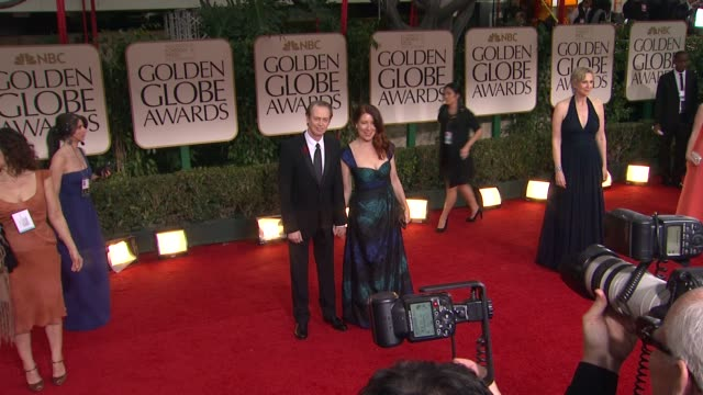steve buscemi at 69th annual golden globe awards arrivals on january 15 2012 in beverly hills california - steve buscemi stock videos and b-roll footage
