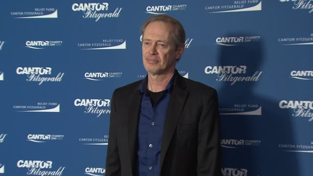 steve buscemi at annual charity day 2017 hosted by cantor fitzgerald bgc and gfi on september 11 2017 in new york city - steve buscemi stock videos & royalty-free footage
