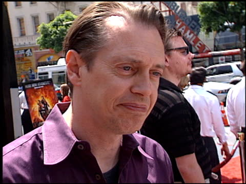 steve buscemi at the 'spy kids 2: the island of lost dreams' premiere at grauman's chinese theatre in hollywood, california on july 28, 2002. - steve buscemi stock videos & royalty-free footage