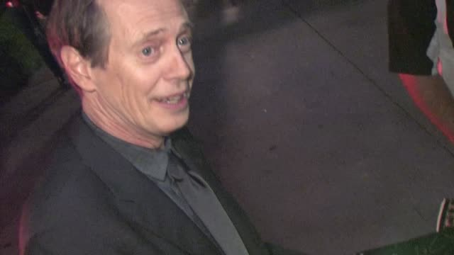 steve buscemi greets fans in west hollywood 01/28/12 in celebrity sightings in los angeles - steve buscemi stock videos & royalty-free footage