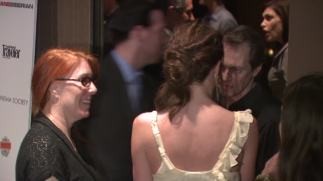 steve buscemi jo andres and emily mortimer at the a special screening of transsiberian at new york new york - steve buscemi stock videos & royalty-free footage
