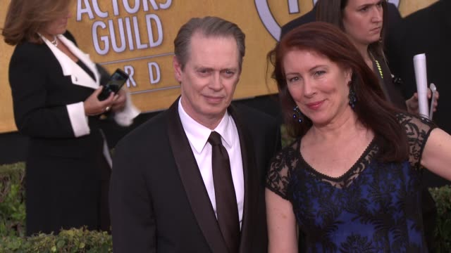 steve buscemi jo andres at 20th annual screen actors guild awards arrivals at the shrine auditorium on in los angeles california - steve buscemi stock videos & royalty-free footage