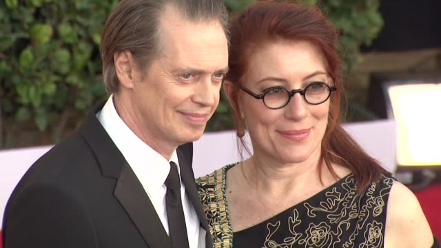 steve buscemi jo andres at the 17th annual screen actors guild awards arrivals part 2 at los angeles ca - steve buscemi stock videos and b-roll footage