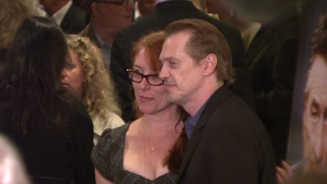steve buscemi jo andres at the premiere of what just happened at new york ny - steve buscemi stock videos & royalty-free footage