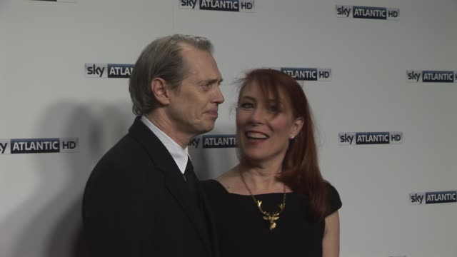 steve buscemi, jo andres at the sky atlantic hd launch: at london england. - steve buscemi stock videos & royalty-free footage